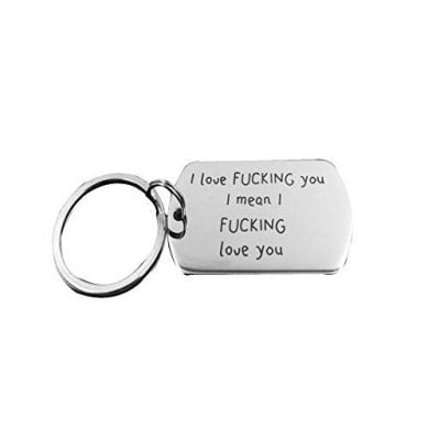 NextStone I love you Lettering Tag Valentine's Day Key chain - Fun Gifts For Him