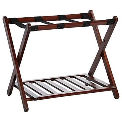 Casual Home Luggage Rack with Shelf - Fun Gifts For Him