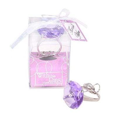 Whitelotous Big Diamond Engagement Ring Keychain - Fun Gifts For Him