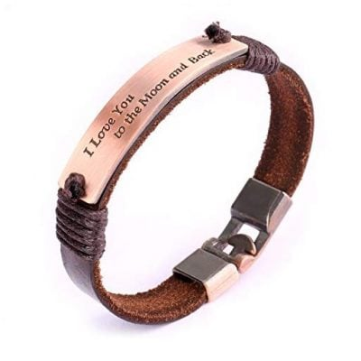 UHIBROS Leather Bracelet - Fun Gifts For Him