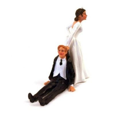 Reluctant Groom Cake Topper - Fun Gifts For Him
