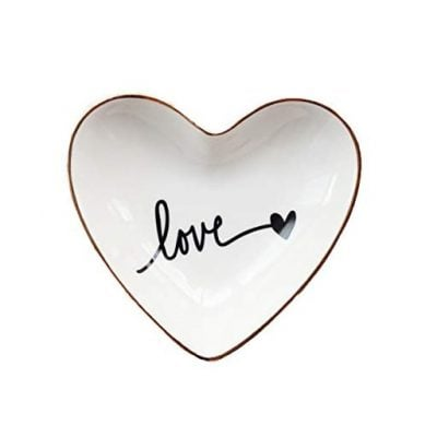 CHOOLD Original Ceramic Heart Shape Ring - Fun Gifts For Him