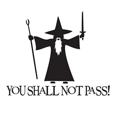 You Shall Not Pass Car Sticker - Fun Gifts For Him