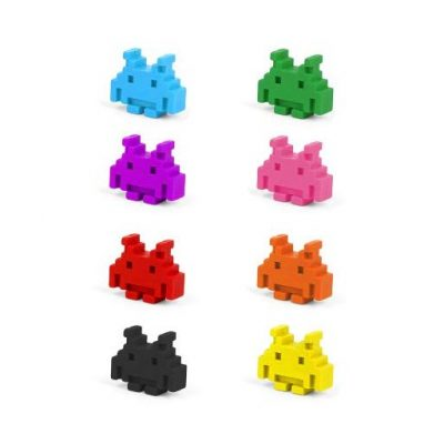 Space Invader Crayons - Fun Gifts For Him