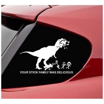 Hungry T-Rex Car Decal - Fun Gifts For Him
