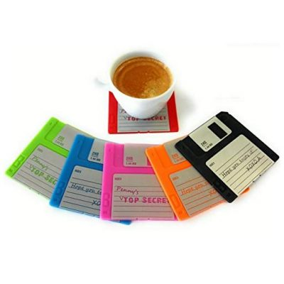 Set of 6 Floppy Disk Coasters - Fun Gifts For Him