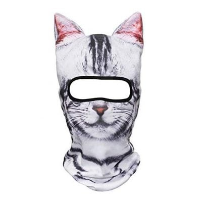 JIUSY 3D Animal Ears Breathable Balaclava Face Mask for Skiing - Fun Gifts For Him