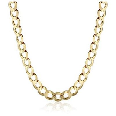 Men's 14k Yellow Gold 5.7mm Cuban Chain Necklace
