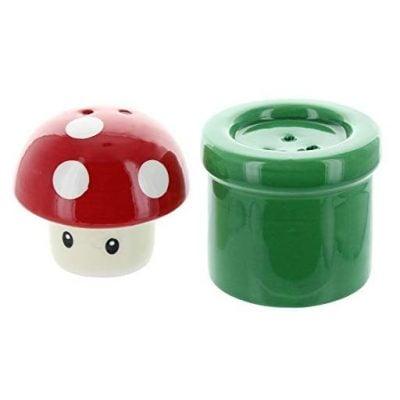 Super Mario Bros. Mushroom & Pipe Salt & Pepper Shakers - Fun Gifts For Him