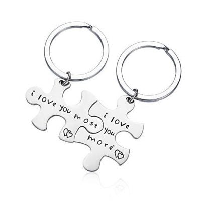 CJ&M Stainless Steel I Love You More I Love You Most - Fun Gifts For Him