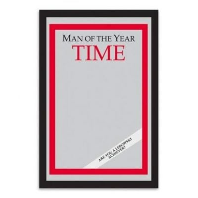 Time Magazine Man Of The Year Mirror - Fun Gifts For Him