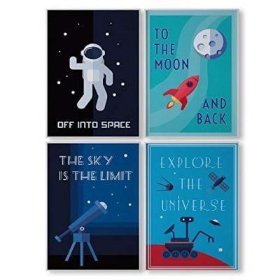 Pillow & Toast Limited Edition Space Wall Art - Fun Gifts For Him