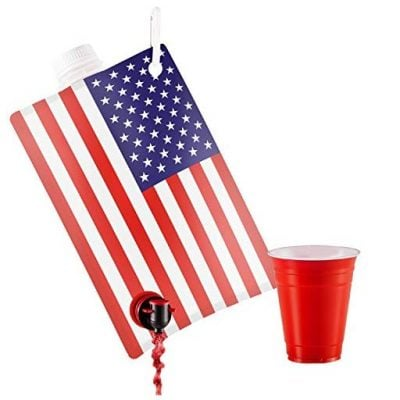 American Flag Liquor Flask - Fun Gifts For Him