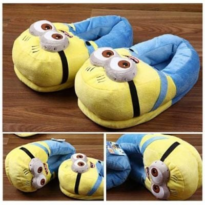 Minion Plush Slippers - Fun Gifts For Him