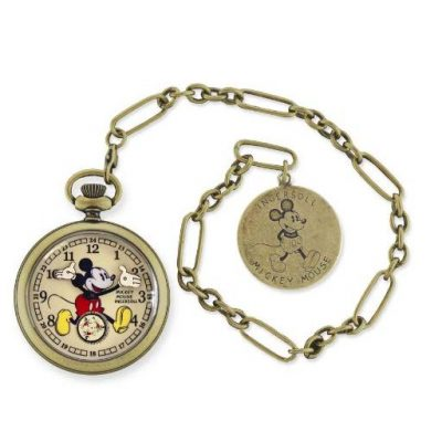 Gold Mickey Mouse Pocket Watch - Fun Gifts For Him