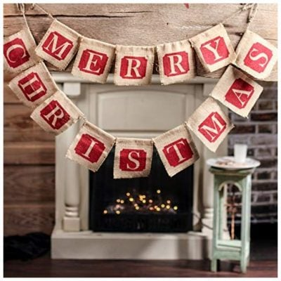 Factory Direct Craft 100% Natural Jute Burlap Merry Christmas Garlands - Fun Gifts For Him