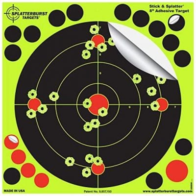 Splatterburst Targets 8-Inch Stick and Splatter Adhesive Shooting Targets
