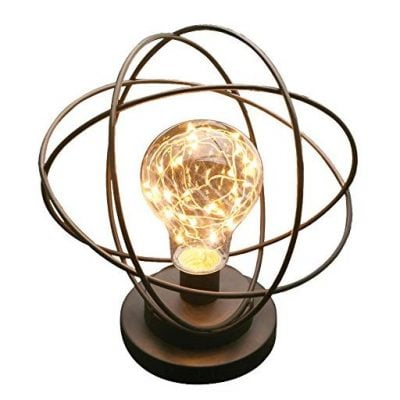 Table Desk Lamp - Atomic Age Led Metal Accent Light - Fun Gifts For Him
