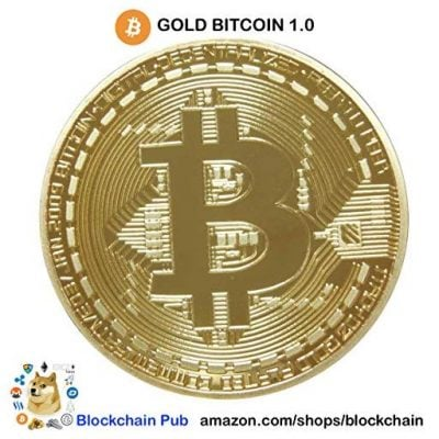 Gold Plated Bitcoins - Fun Gifts For Him