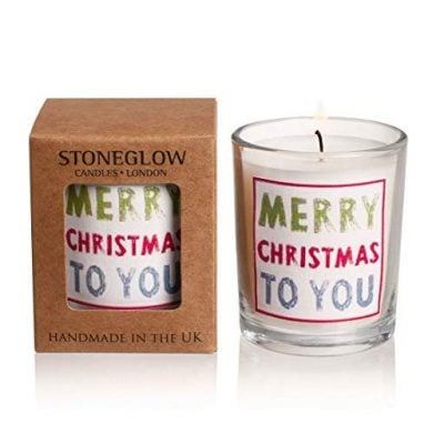 Stoneglow Votive Candle Occasions Merry Christmas to You - Fun Gifts For Him