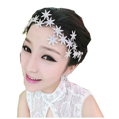 Wiipu Romantic Star Crystal Rhinestone Tiara Bridal Hair Accessories - Fun Gifts For Him