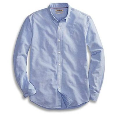 Goodthreads Men's Standard-Fit Long-Sleeve Solid Oxford Shirt - Fun Gifts For Him