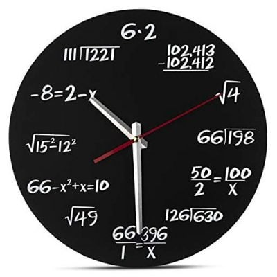 Decodyne Math Wall Clock - Fun Gifts For Him