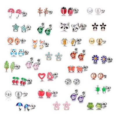 30 Pairs Stainless Steel Mixed Color Cute Animals - Fun Gifts For Him