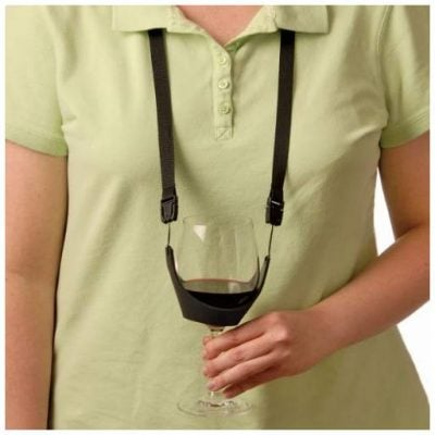 Wine Glass Holder Necklace - Fun Gifts For Him