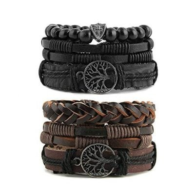 HZMAN Mix 6 Wrap Bracelets Men - Fun Gifts For Him