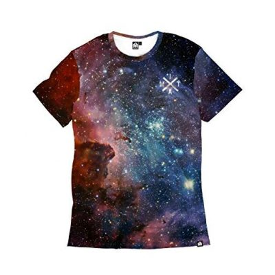 INTO THE AM Milky Way Men's Casual Tee Shirt (Large) - Fun Gifts For Him