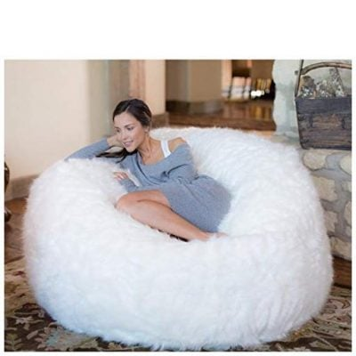 Furry Memory Foam Bean Bag Chair - Fun Gifts For Him