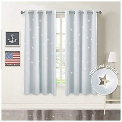 PONY DANCE Star Cutout Curtains - Fun Gifts For Him