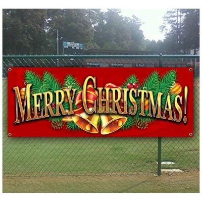 Tampa Printing Merry Christmas 4 13 oz heavy duty vinyl banner with 4 grommets - Fun Gifts For Him