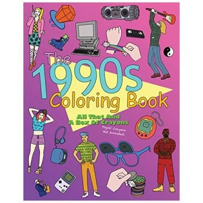 The 1990s Coloring Book - Fun Gifts For Him