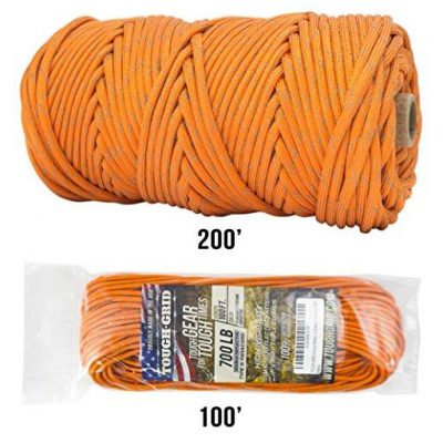 TOUGH-GRID NEW 700lb Double-Reflective Paracord/Parachute Cord - Fun Gifts For Him