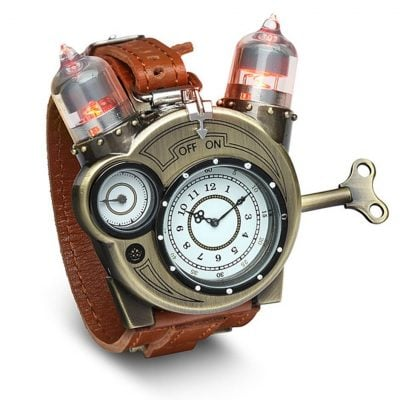 Steampunk-Styled Tesla Analog Watch - Fun Gifts For Him
