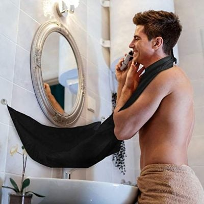 Beard Bib Hair Catcher for Shaving - Fun Gifts For Him