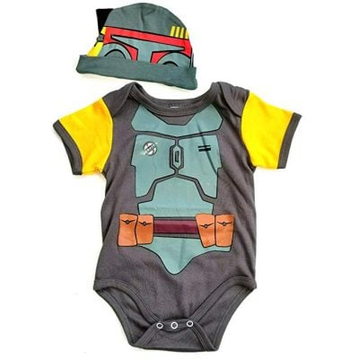 Baby Fett Onesie and Hat Bundle Outfit - Fun Gifts For Him