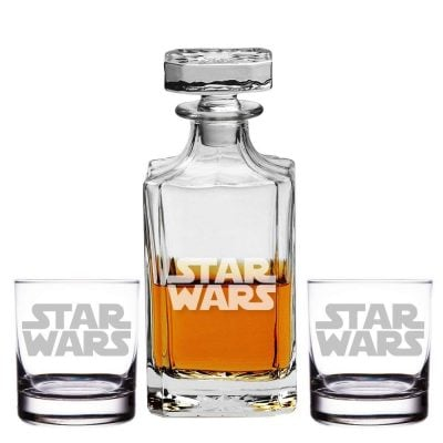 Silhouette Star Wars Engraved Decanter and Rocks Glasses - Fun Gifts For Him