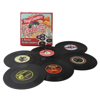 Retro Vinyl Record Disk Coaster - Fun Gifts For Him