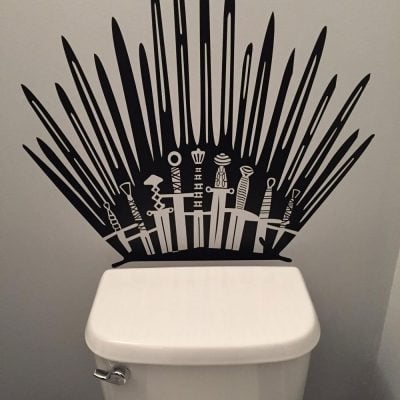 Game of Thrones Toilet Decal - Fun Gifts For Him
