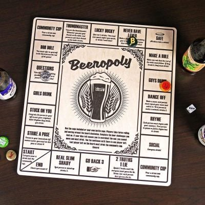 Beeropoly Beer Drinking Game by HomeWetBar - Fun Gifts For Him