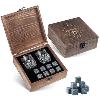 Whiskey Stones Gift Set - Fun Gifts For Him