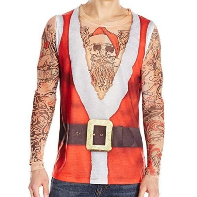 Santa Suit with Tattoos Top - Fun Gifts For Him