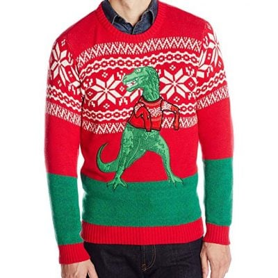 T-rex christmas sweater - Fun Gifts For Him