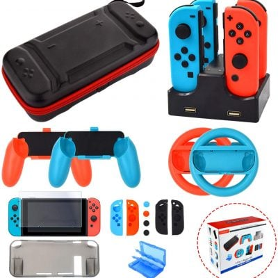 Accessories Kit for Nintendo Switch Games - Fun Gifts For Him